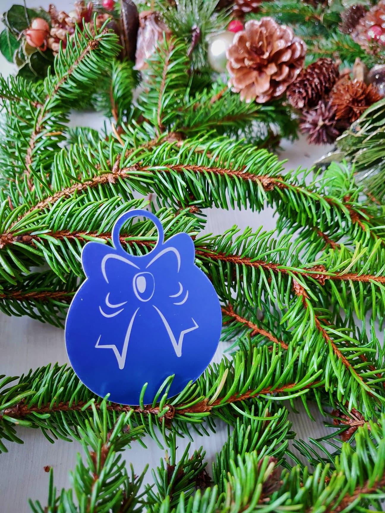 Décoration K021-OR02 Kssiope médaillon cadeau bleu