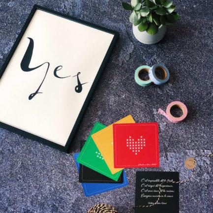 carte personnalisable coeur