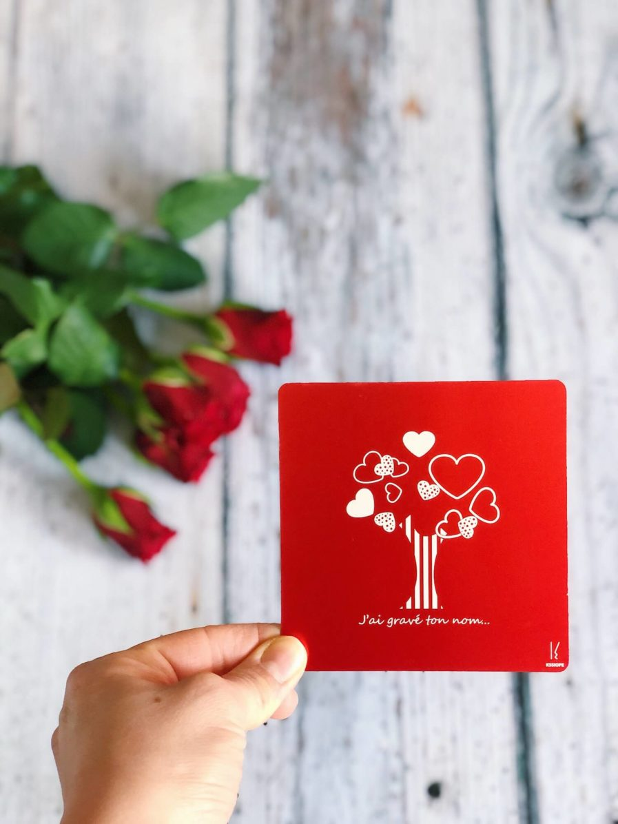 amour - carte personalisable