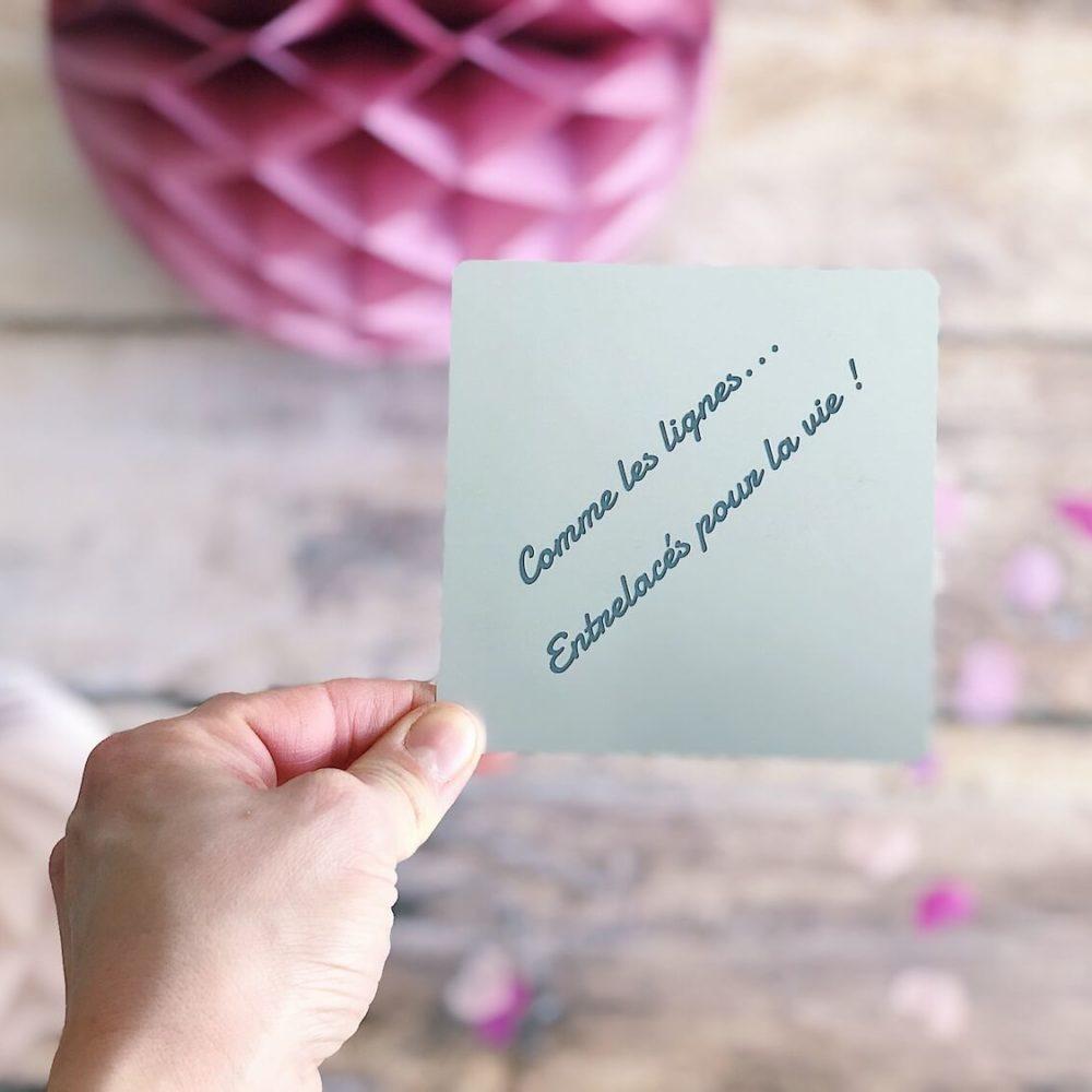 message personnalise - carte en aluminium eco-responsable