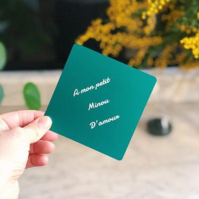 carte personalisable modele eucalyptus