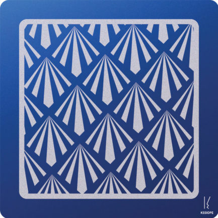 carte saint valentin personnalisee - art deco - bleu fonce