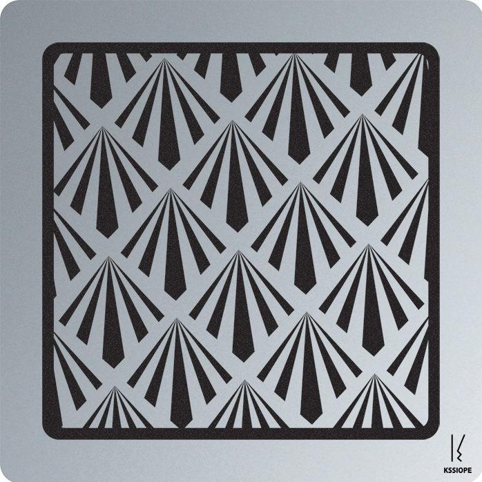 Carte personnalisable - art deco - aluminium