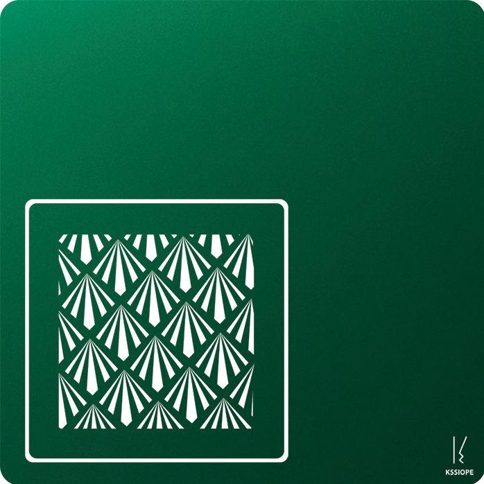 carte personnalisee - petit art deco - vert