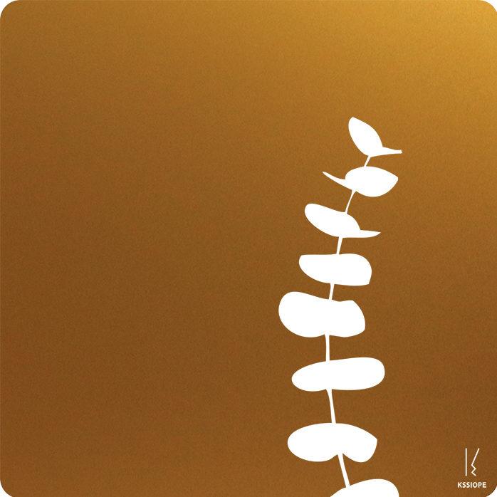 carte saint valentin personnalisee - effluve eucalyptus - or
