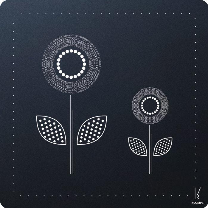 carte personnalisee - arrivée printemps- noire