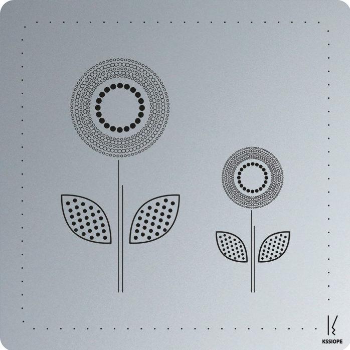 carte personnalisee - arrivée printemps - aluminium