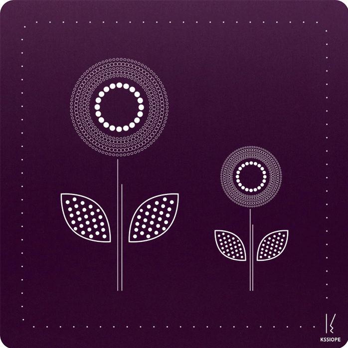 carte personnalisee - arrivée printemps- violet
