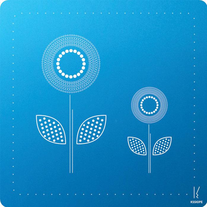 carte personnalisee - arrivée printemps bleu-clair