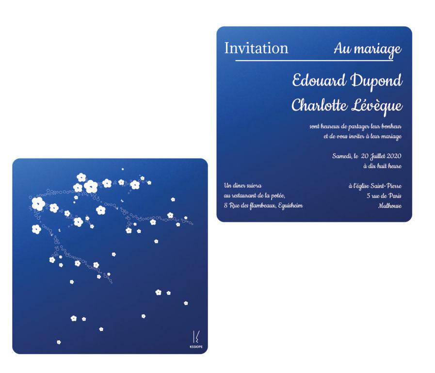 invitation mariage double decale bleu sakura copy