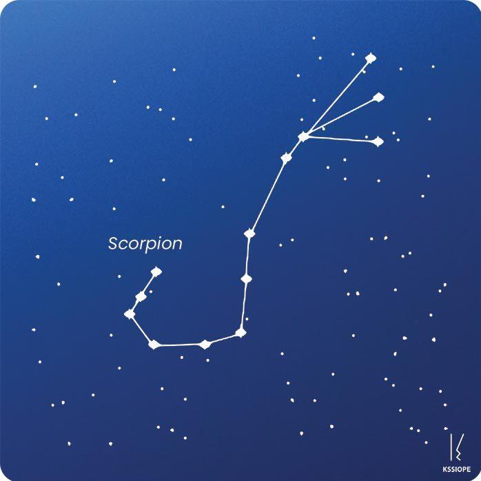 carte zodiaque personnalisable scorpion