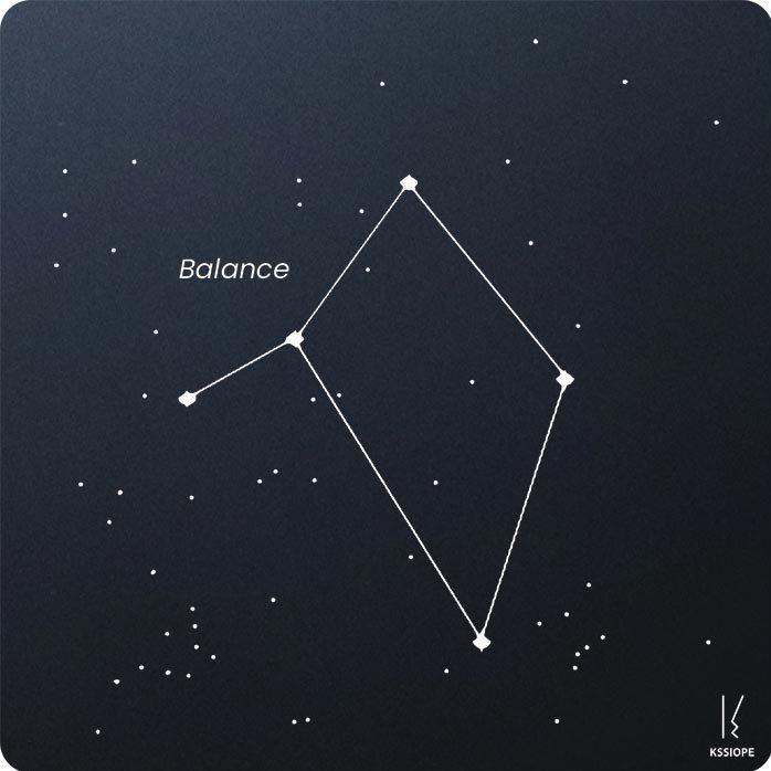 carte zodiaque personnalisable balance