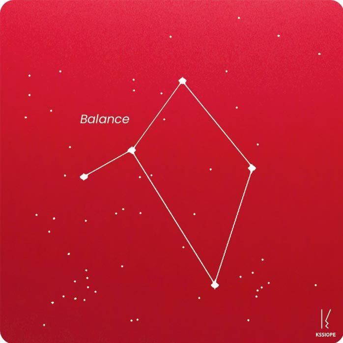 carte zodiaque personnalisable balance rouge