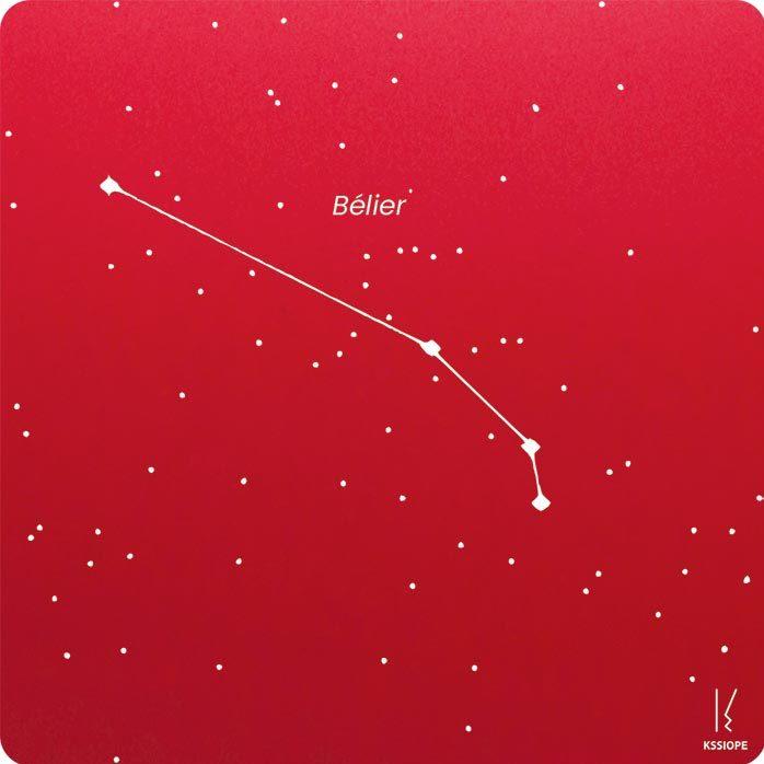 carte zodiaque personnalisable belier rouge