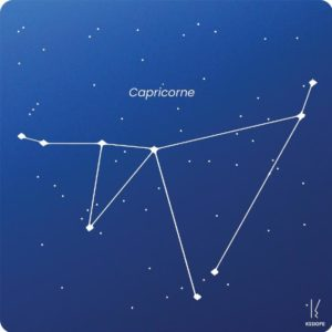 carte zodiaque personnalisable capricorne