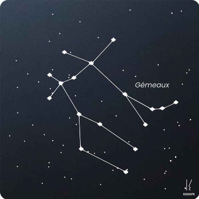 carte zodiaque personnalisable gémeaux