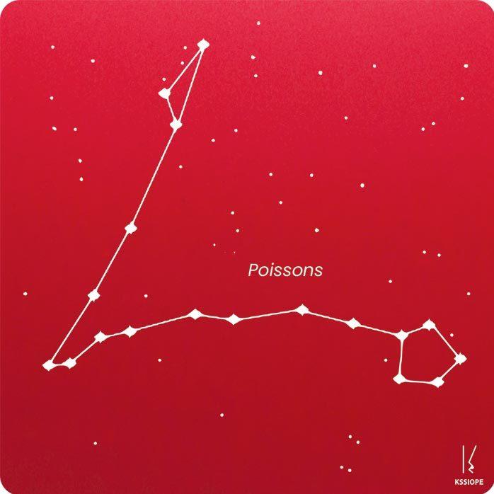 carte zodiaque personnalisable poisson rouge