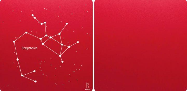 carte personnalisable sagittaire rouge
