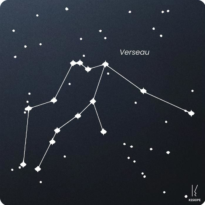 carte zodiaque personnalisable verseau