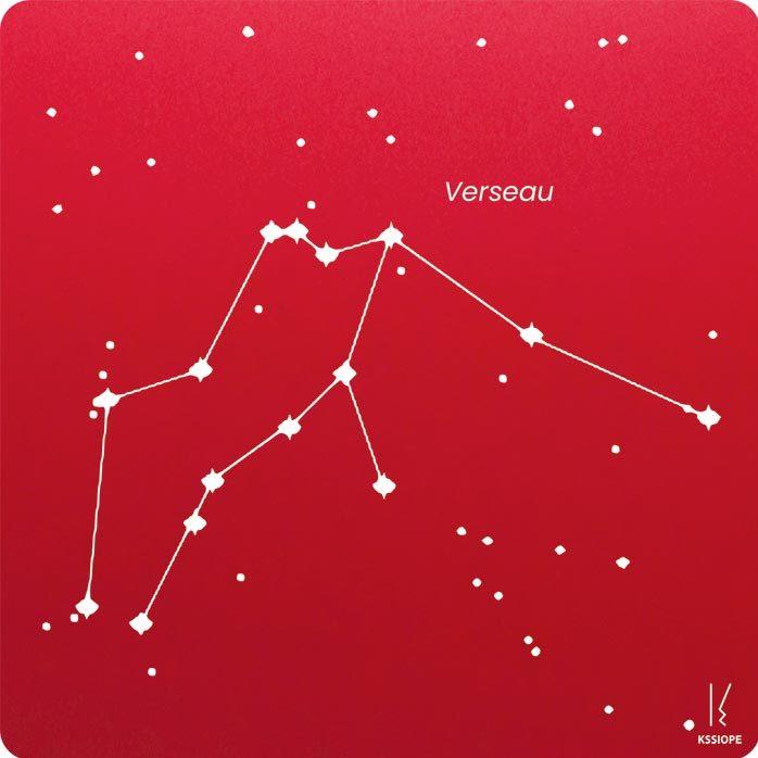carte zodiaque personnalisable verseau rouge