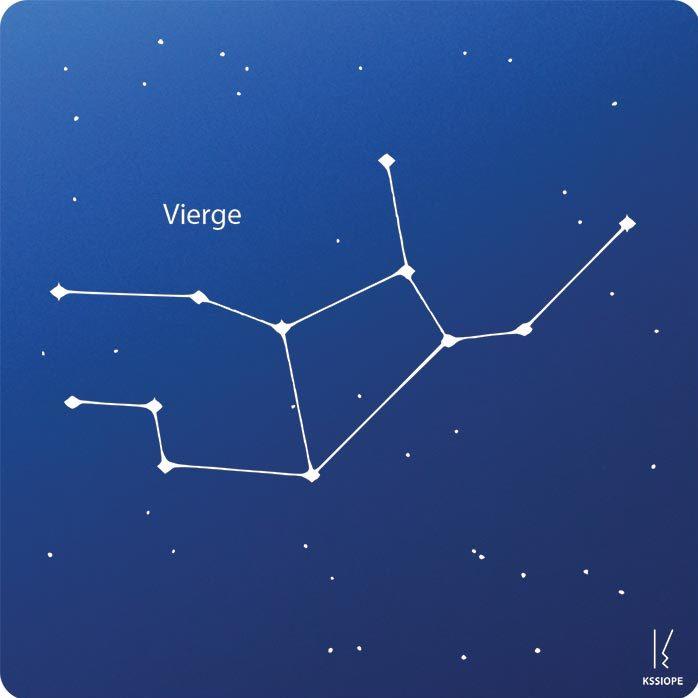 carte zodiaque personnalisable vierge