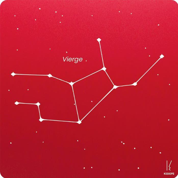 carte zodiaque personnalisable vierge rouge