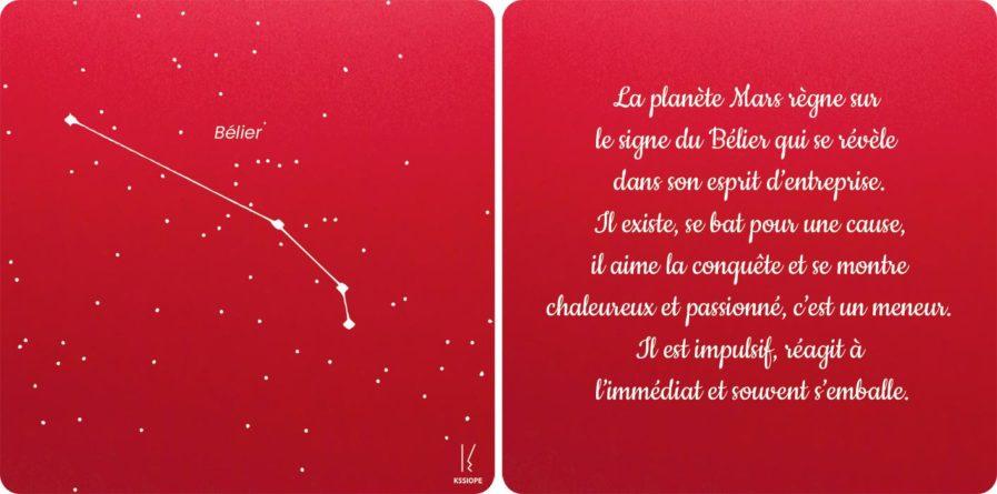 carte zodiaque belier rouge