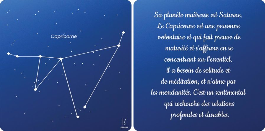 carte capricorne zodiaque