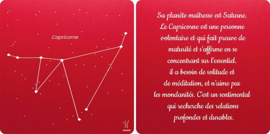 carte zodiaque capricorne rouge