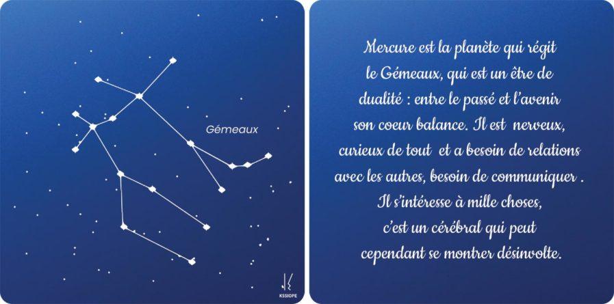 carte zodiaque gémeaux