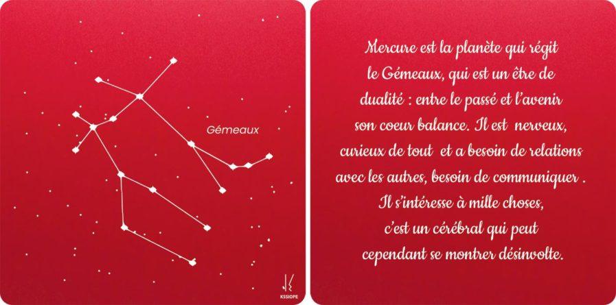 carte zodiaque gemeaux rouge