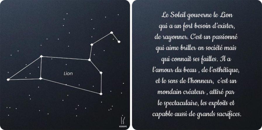 carte zodiaque lion