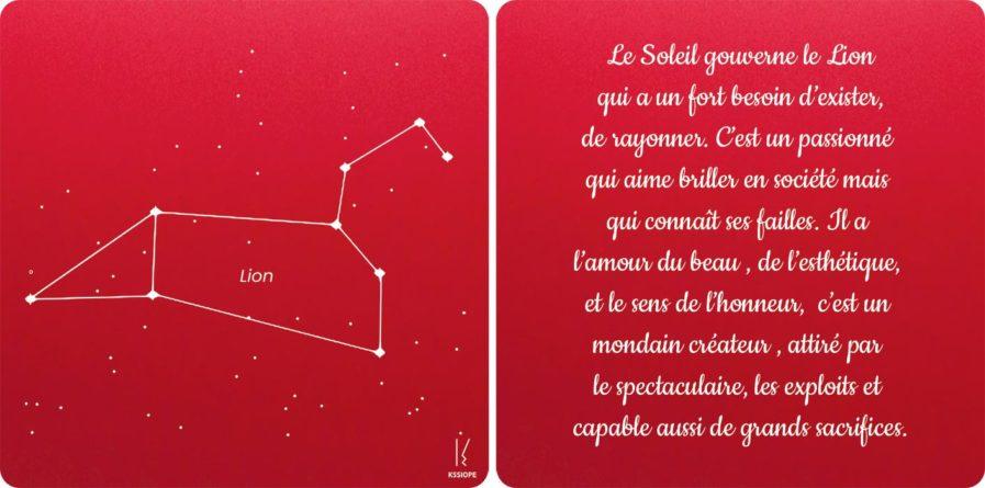 carte zodiaque lion rouge