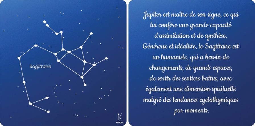 carte zodiaque sagittaire