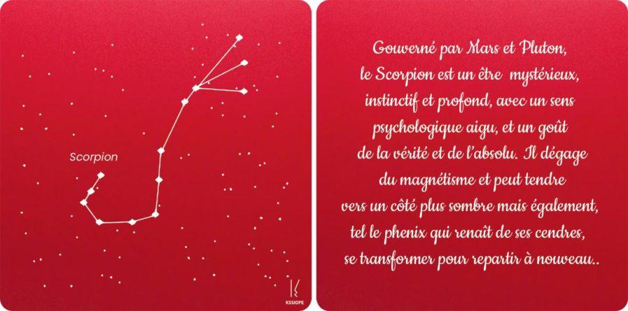 carte zodiaque Scorpion rouge