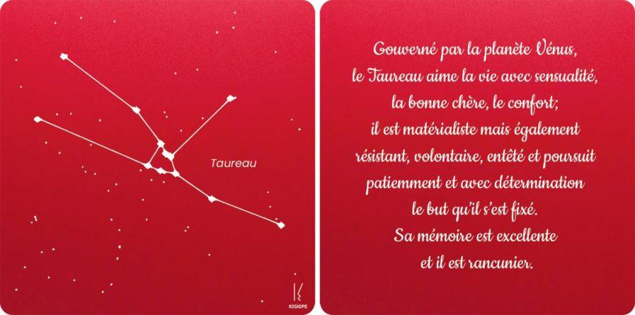 carte taureau rouge zodiaque