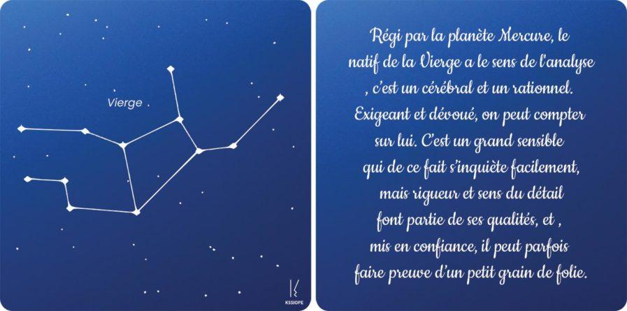 carte zodiaque vierge