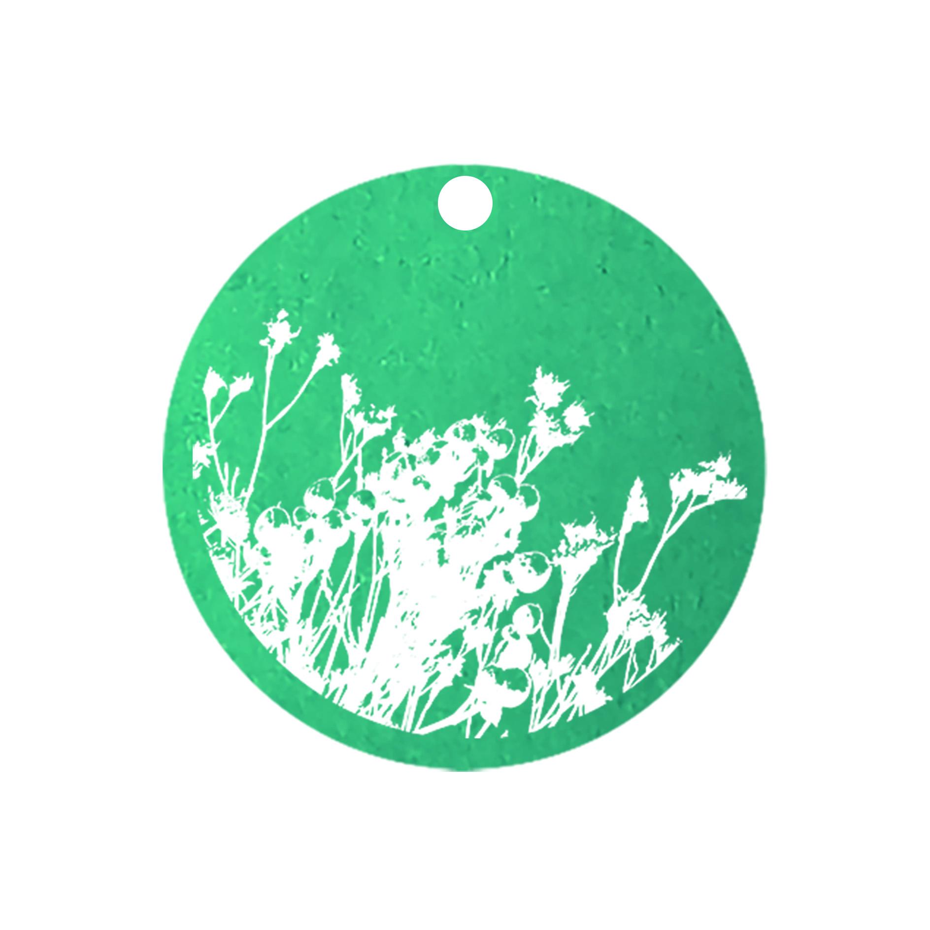 mini carte ronde bouquet champetre