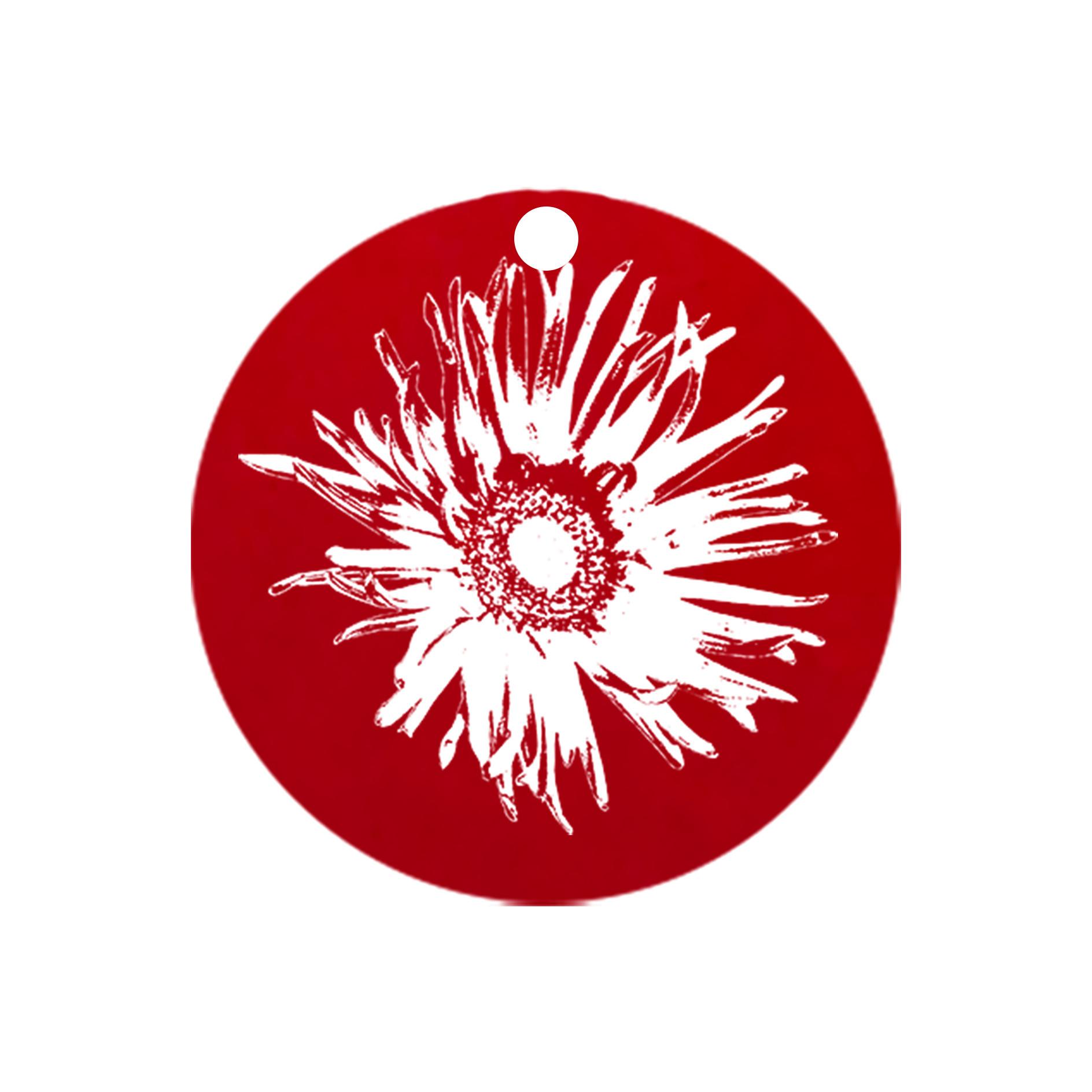 mini carte ronde fleur_