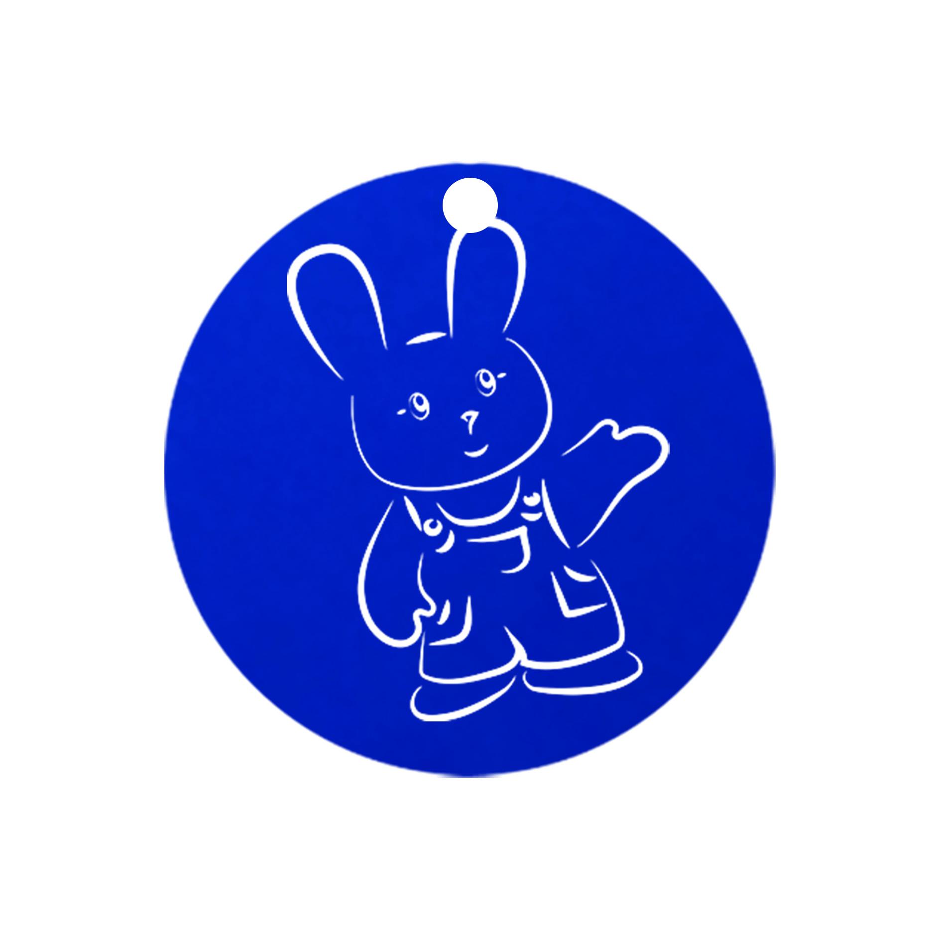 mini carte ronde lapin sourire