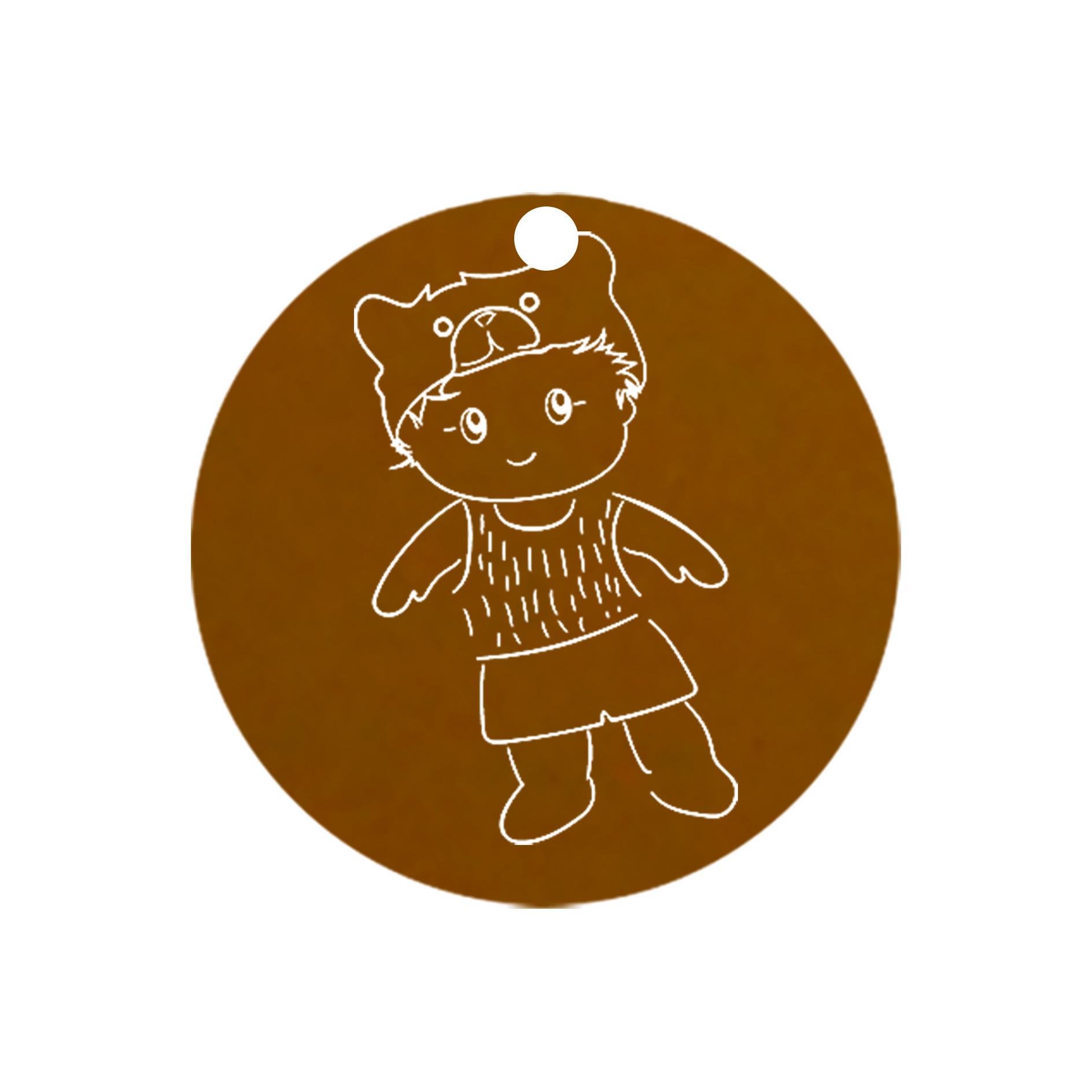 mini carte ronde petit garcon