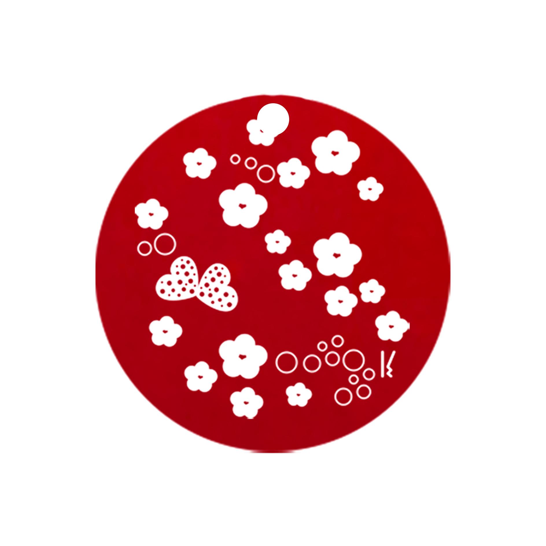 mini carte ronde sakura & butterfly MV 01